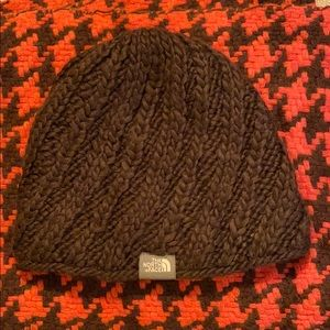 Women's North Face Brown Knit Hat